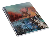 Load image into Gallery viewer, Abstract Fall Landscape Painting - Spiral Notebook
