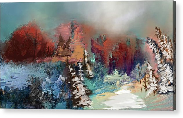 Abstract Fall Landscape Painting - Acrylic Print
