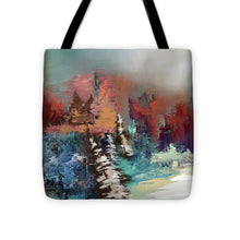 Load image into Gallery viewer, Abstract Fall Landscape Painting - Tote Bag