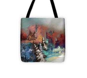 Abstract Fall Landscape Painting - Tote Bag