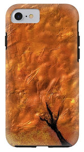Abstract Gold Tree - Phone Case