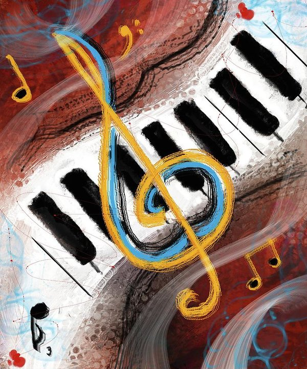 Abstract Piano Concert - Art Print