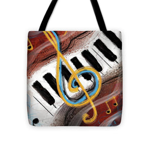 Abstract Piano Concert - Tote Bag