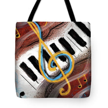 Load image into Gallery viewer, Abstract Piano Concert - Tote Bag