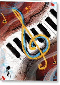 Abstract Piano Concert - Greeting Card