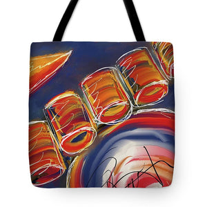 Abstract Red Drums - Tote Bag