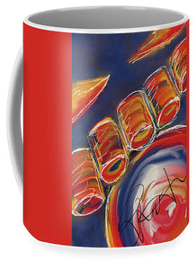 Abstract Red Drums - Mug