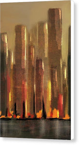 Big City Sunset - Canvas Print