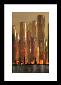 Big City Sunset - Framed Print