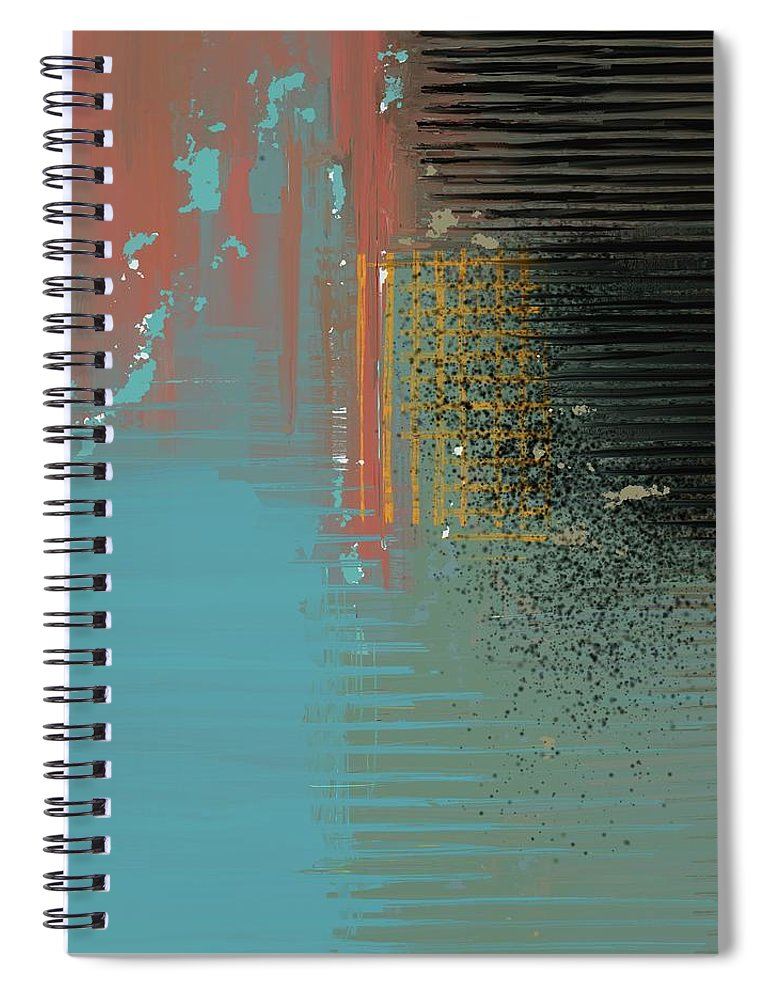 Black Splash - Spiral Notebook