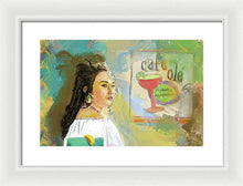 Load image into Gallery viewer, Cafe Ole Girl - Framed Print