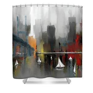 City Glow - Shower Curtain