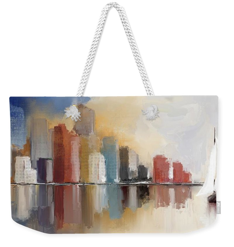 Cityscape At Sunrise - Weekender Tote Bag