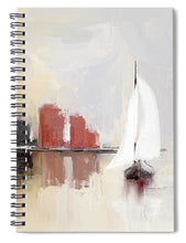 Load image into Gallery viewer, Cityscape At Sunrise - Spiral Notebook