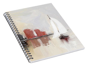 Cityscape At Sunrise - Spiral Notebook