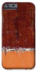 Copper Field Abstract Painting - Phone Case