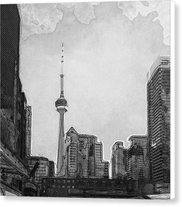 Downtown Toronto in BW - Canvas Print