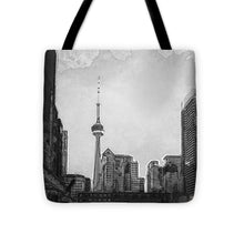 Load image into Gallery viewer, Downtown Toronto in BW - Tote Bag