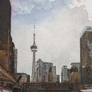 Downtown Toronto in color - Art Print