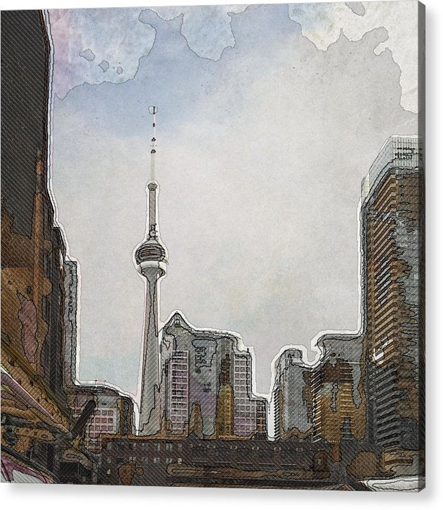 Downtown Toronto in color - Acrylic Print