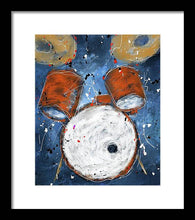 Load image into Gallery viewer, Drums On Blues - Framed Print