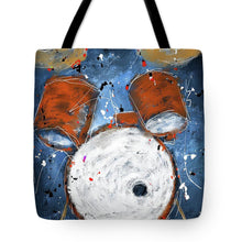 Load image into Gallery viewer, Drums On Blues - Tote Bag