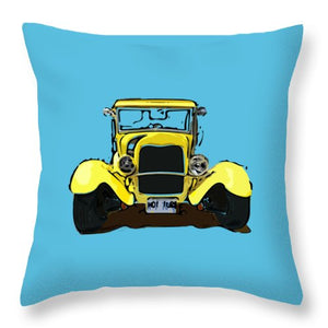 Early 1930s Ford Yellow - Throw Pillow