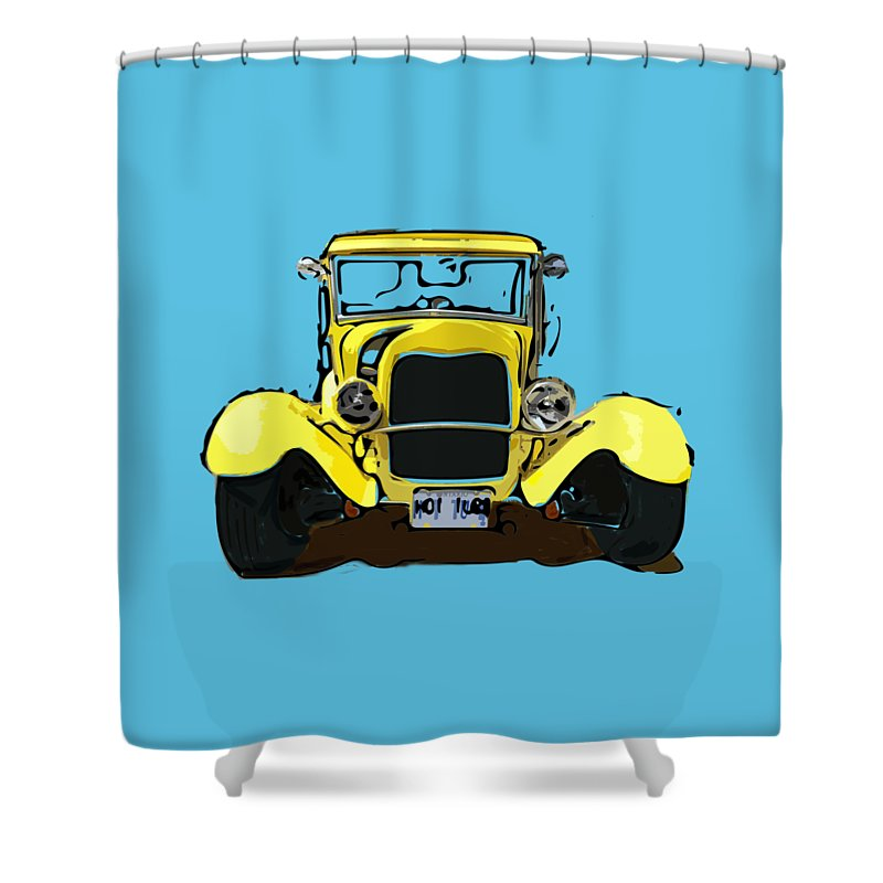 Early 1930s Ford Yellow - Shower Curtain