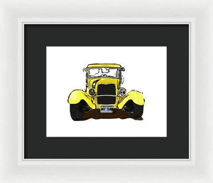Early 1930s Ford Yellow - Framed Print