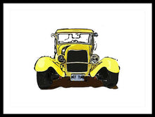 Load image into Gallery viewer, Early 1930s Ford Yellow - Framed Print