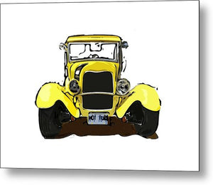 Early 1930s Ford Yellow - Metal Print