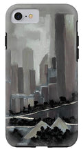 Load image into Gallery viewer, Edmonton Skyline Abstract Painting - Phone Case
