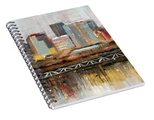 Load image into Gallery viewer, Edmonton Skyline Abstract1 - Spiral Notebook