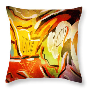 Glowing Dimensionality - Throw Pillow