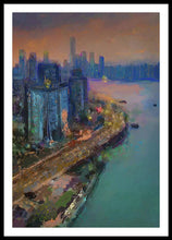 Load image into Gallery viewer, Hong Kong Skyline Painting - Framed Print