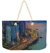 Load image into Gallery viewer, Hong Kong Skyline Painting - Weekender Tote Bag