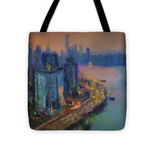 Load image into Gallery viewer, Hong Kong Skyline Painting - Tote Bag