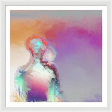 Load image into Gallery viewer, Humanoid Couple On Cloud Nine - Framed Print