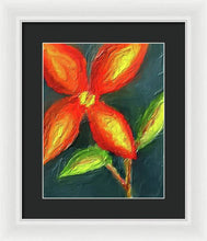 Load image into Gallery viewer, Impasto Red and Yellow Flower - Framed Print