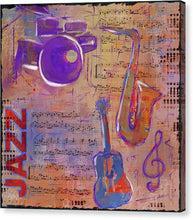 Load image into Gallery viewer, JAZZ Collage Painting - Canvas Print
