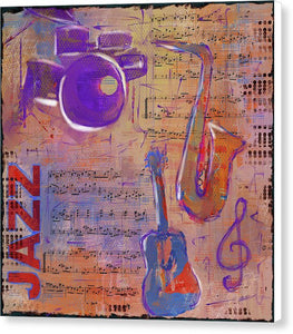 JAZZ Collage Painting - Canvas Print