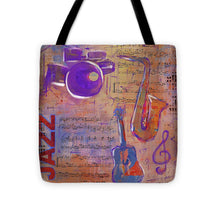 Load image into Gallery viewer, JAZZ Collage Painting - Tote Bag