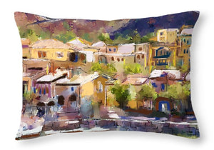Lakeside Village - Throw Pillow