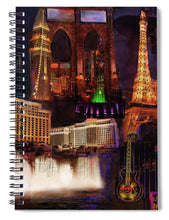Load image into Gallery viewer, Las Vegas Collage - Spiral Notebook