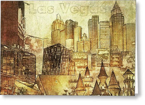 Las Vegas Collage Three - Greeting Card