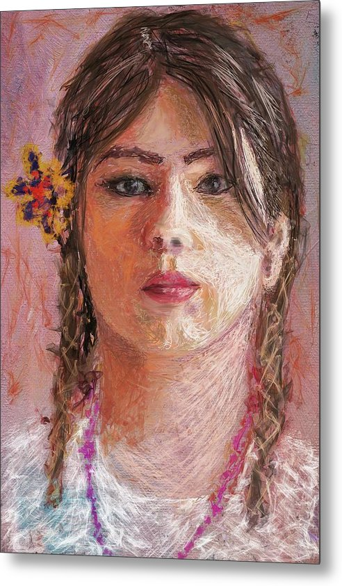 Mexican Girl - Metal Print