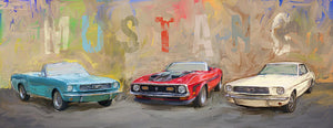 Mustang Panorama Painting - Art Print