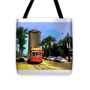 New Orleans Canal St Car 04 - Tote Bag