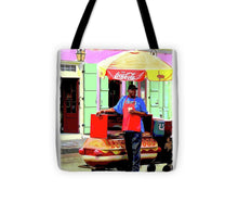 Load image into Gallery viewer, New Orleans Hotdog Vendor - Tote Bag