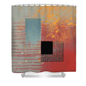 Orange Splash - Shower Curtain